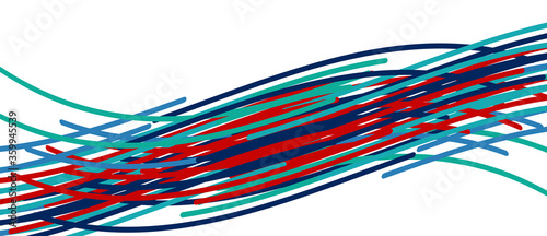 Аbstract moving colorful lines vector backgrounds for cover, placard, poster, ba Tablou Canvas