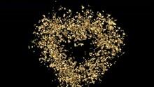 Golden Shining Hearts Fall