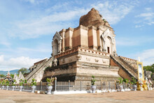 Broken Pagoda In Wat Chedi Lua...