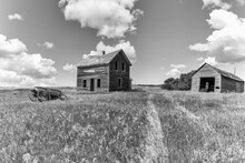 Abandoned Farmyard With An Old...