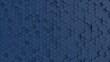 canvas print picture - Hexagonal dark navy blue background texture. 3d illustration, 3d rendering