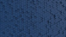 Hexagonal Dark Navy Blue Backg...