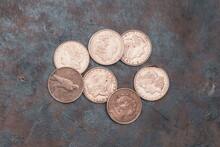 USA Silver Morgan Coins. One Dollar