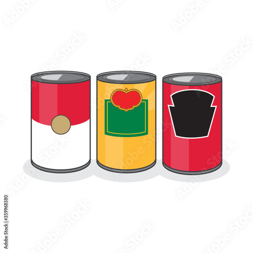 Set of 3 Classic Food Cans Wallpaper Mural