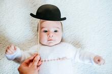 Portrait Of Baby Girl Dressed ...