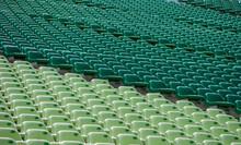 Empty Green Stadium Seats