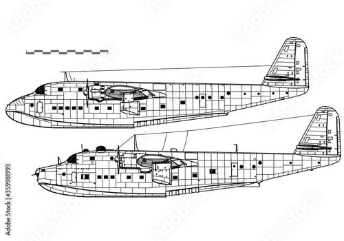 Obraz na płótnie Blohm & Voss BV 222 Wiking