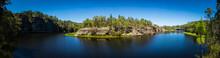 Daytime Panorama Of River Bend...