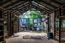 Inside An Abandoned Farm Shed