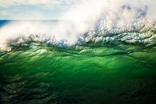 Wave Breaking In Big Surf, Gre...