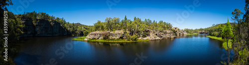 Daytime panorama of river bend in Capertee, NSW - 359992511