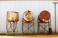 Fuel Tanks On A Farm