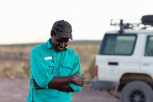 Indigenous Tour Guide In The Outback