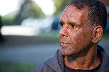 Indigenous Australian Man In P...