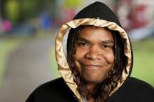 Aboriginal Woman Smiling And L...