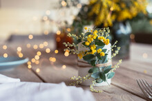 Table Decor With Wattle Sprig ...