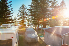 Sunrise At A Caravan Park By T...