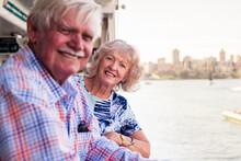 Senior Couple Leaving On A Cruise