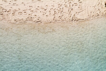 Overhead View Of Sandy Beach W...