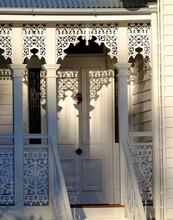 Wooden Lattice Detail Of A Period Home In Brisbane