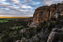 Rocky Buttresses And Landscape Of Mount Arapiles