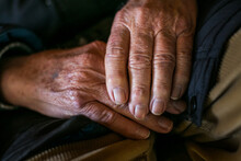 Close-up Of An Old Man's Hands