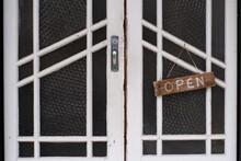 Vintage Doorway With OPEN Sign...