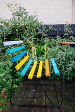 Garden Chair On A Rainy Day In...