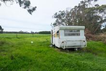 Dumped Caravan Beside The Road