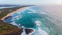 Fingal Head From Above With Tu...