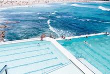 People Swimming At Icebergs In Bondi