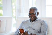 African American Senior Man Te...
