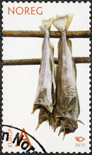 NORWAY - 2010: Shows Stockfish, Norden Issue Life At The Coast, 2010