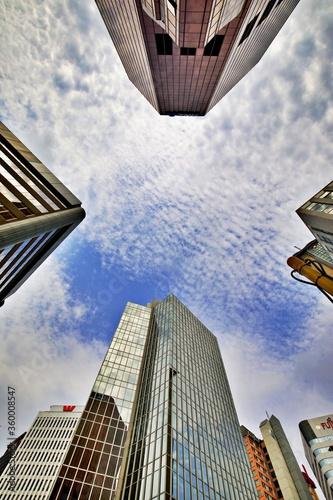 Himmel in der Großstadt Canvas Print