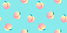Seamless Peaches Fruit Vector ...