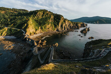 Hermitage Of San Juan De Gaztelugatxe At The Top Of The Island Of Gaztelugatxe. Vizcaya, Basque Country (Spain). View Of The Stairs To Ascend