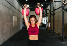Fitness Woman Smiling During T...