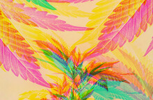 Psychedelic Cannabis Background