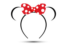 Crown With Red Polka Dot Bow V...