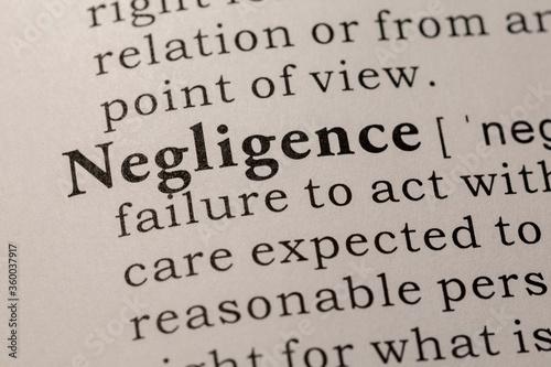 Fotomural definition of negligence