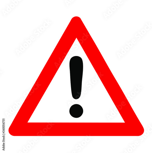 Vector image of a warning sign Fototapet