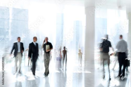 Fototapeta group of people in the lobby business center obraz