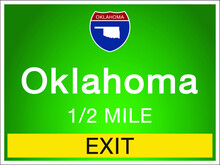 Highway Signs Before The Exit ...