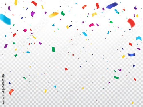 Leinwand Poster Holiday background with confetti