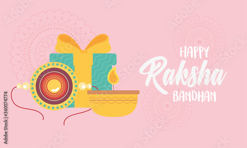 Платно raksha bandhan, bracelet candle and gift, relation brothers and sisters indian f