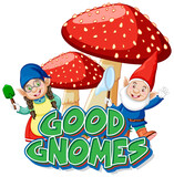 Good gnomes logo on white background