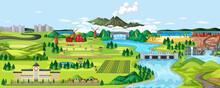 Agriculture Rural Landscape Scene