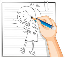Hand Writing Of Girl Laughing ...