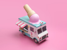 Ice Cream Truck 3D Illustratio...