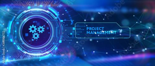 Fotomural Project management concept